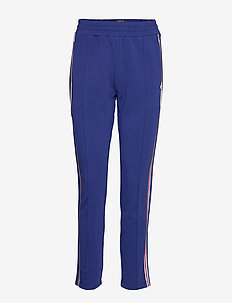 Colorful sweat pants with sporty ribs on the side - COMBO A