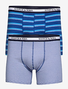 Jersey boxer shorts in yarn-dyed stripe - COMBO A