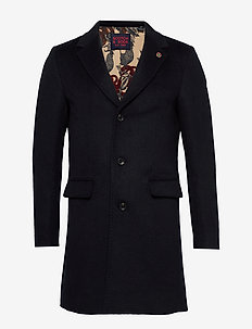 Classic single breasted coat - MIDNIGHT