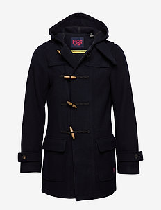 Classic long duffle coat - wolljacken - night