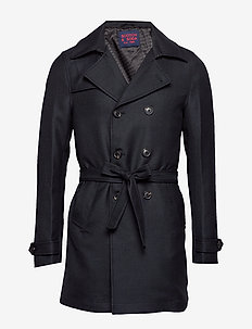 Chic short trenchcoat - wollen mantels - night