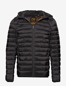 Classic hooded light weight padded jacket - forede jakker - black