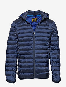Classic hooded light weight padded jacket - forede jakker - navy