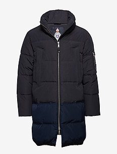 Long quilted down jacket - forede jakker - night