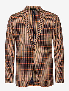 Chic unconstructed  blazer in yarn-dyed pattern - single breasted suits - combo b