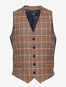 Chic gilet in yarn-dyed pattern - COMBO B
