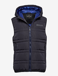 Classic hooded quilted bodywarmer - vests - night