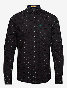 REGULAR FIT- Classic all-over printed pochet shirt - chemises d'affaires - combo e