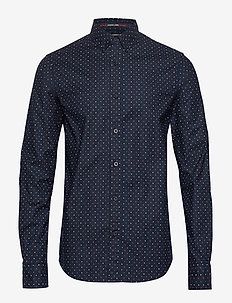 REGULAR FIT- Classic oxford shirt with all-over print - chemises d'affaires - combo e
