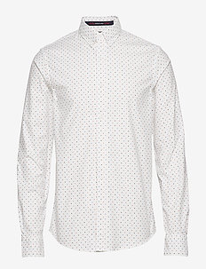 REGULAR FIT- Classic oxford shirt with all-over print - chemises d'affaires - combo f
