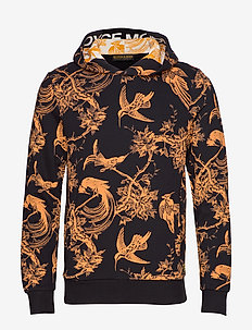 All-over printed hoody with artwork patch at hood - COMBO A