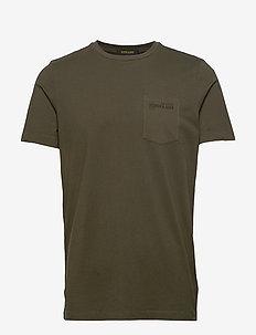 Classic garment-dyed crewneck tee - MILITARY