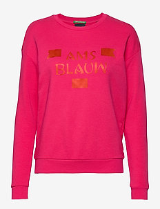 Basic sweat with blauw artworks - PINK PIER