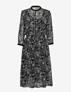 Allover printed sheer dress - COMBO A