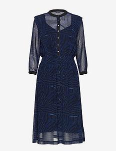 Allover printed sheer dress - COMBO B