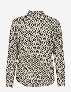 Oversized boxy fit cotton viscose shirt in various prints - COMBO I