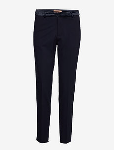 Tailored sweat jogger with velvet waistband - NIGHT
