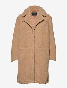 Bonded teddy jacket - SAND