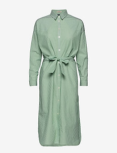 Clean shirt dress with press buttons - COMBO E