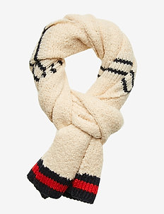 Knitted teddy scarf - scarves - combo a