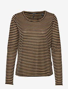 Basic long sleeve tee in lurex stripe - COMBO D
