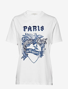 Short sleeve tee with toile artwork - WHITE