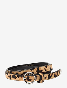 leather belt with animal print - COMBO B