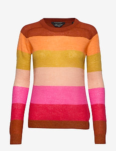 Colourful striped pullover - COMBO R