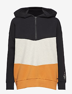 Color block hooded oversized sweat - COMBO A