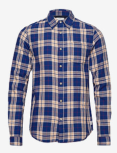 Light weight brushed flannel shirt in pop colours - ternede skjorter - combo b