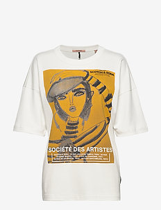 Loose fit short sleeve tee with artwork - OFF WHITE