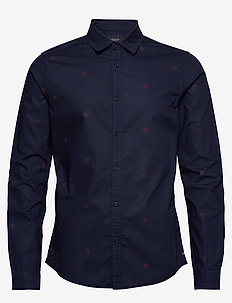 Ams Blauw light weight shirt with prints - COMBO B