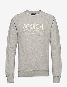 Signature Scotch & Soda sweat in regular fit - sweatshirts - grey melange
