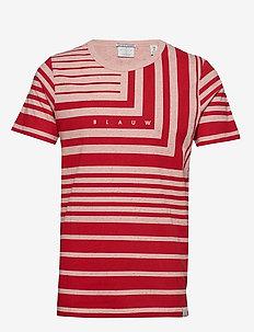 S/S tee with allover prints on melange base - kortermede t-skjorter - combo b