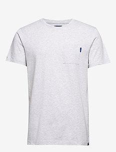 Ams Blauw classic pocket tee - podstawowe koszulki - grey melange