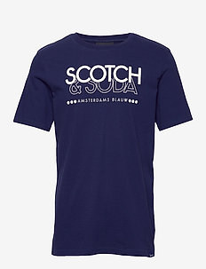 Scotch & Soda crew neck logo tee - NAVY