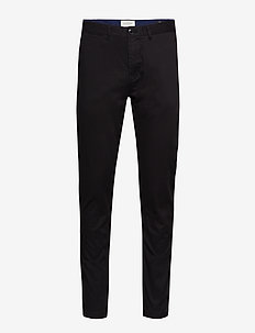 Stuart - Classic regular slim fit chino - chinos - black
