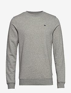 Clean sweat - basic sweatshirts - grey melange