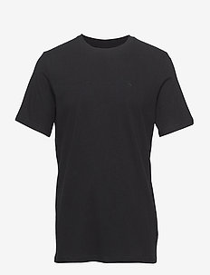 Cotton tee with wider neck rib - basic t-shirts - black