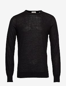 Merino merino wool knit - basic strik - black