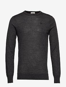 Merino merino wool knit - basic strik - charcoal melange