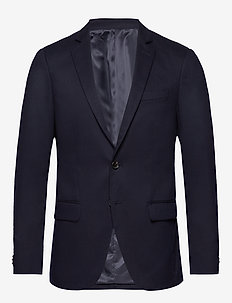 NOS Pique and constructed blazer - enkeltradede blazere - navy