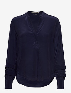Feminine top with special sleeve detail - NAVY