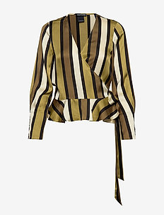 Wrap shirt in various prints - COMBO C