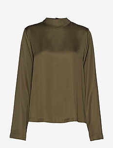 High neck long sleeve top - MILITARY