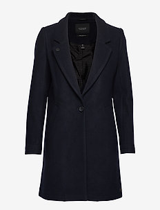 Classic tailored coat with half lining - NIGHT