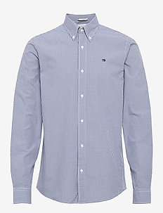 NOS Crispy poplin shirt relaxed fit button down collar - casual - combo b