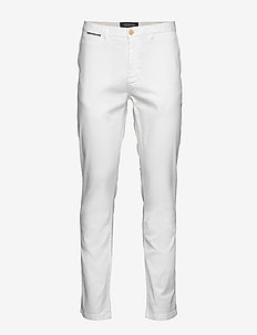 STUART- Classic chino - chinos - denim white