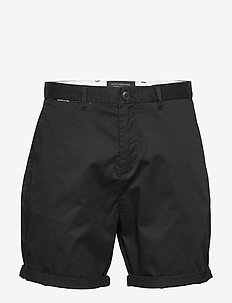 Mid length - Classic chino short in pima cotton quality - chinos shorts - black