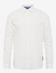 REGULAR FIT- Classic all-over printed poplin shirt - casual - combo a